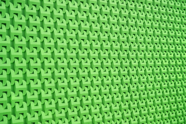 Vivid green diminishing perspective of 3d wall surface pattern for background and banner