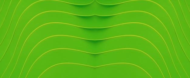 Яркий лаймовый зеленый абстрактный фон художественные изгибы линий стека контейнеров