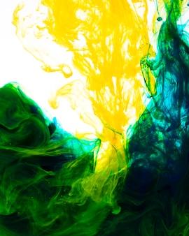 Vivid mix of bright ink drops