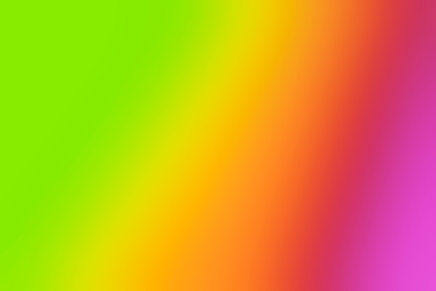 Vivid rainbow shades in blur