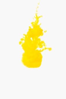 물에 생생한 노란색 방울