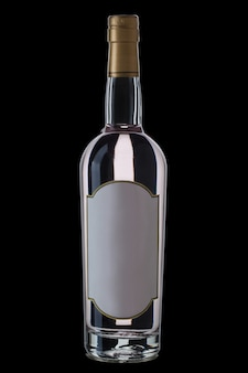 Vodka bottle isolated
