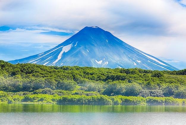 Volcanic landscape of kamchatka peninsula