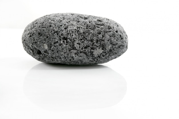 Volcanic pumice, black and white stone