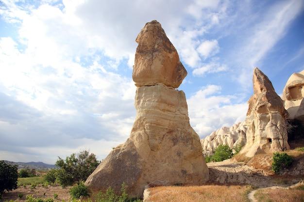 Вулканические породы в каппадокии, турция