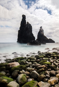 Volcanic rocky formations