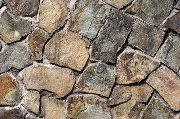 自然壁用の火山岩スラブ。自然な背景。