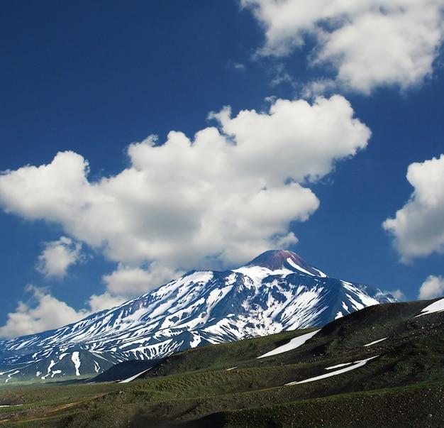 Volcano avacha on the kamchatka in russia