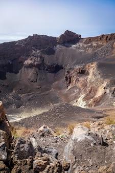 Кратер вулкана в кабо-верде