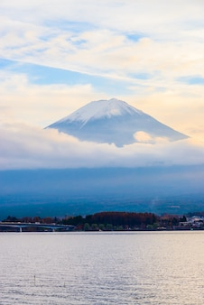 Volcano fuji day beautiful mt