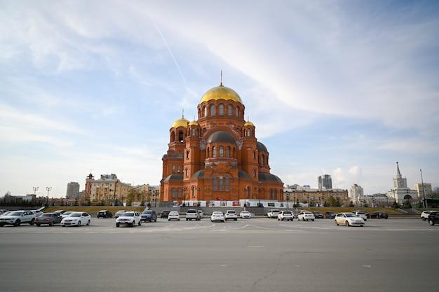 ヴォルゴグラード、ロシア-2021年6月7日:ヴォルゴグラードのアレクサンダーネフスキー大聖堂(tsaritsyn)。