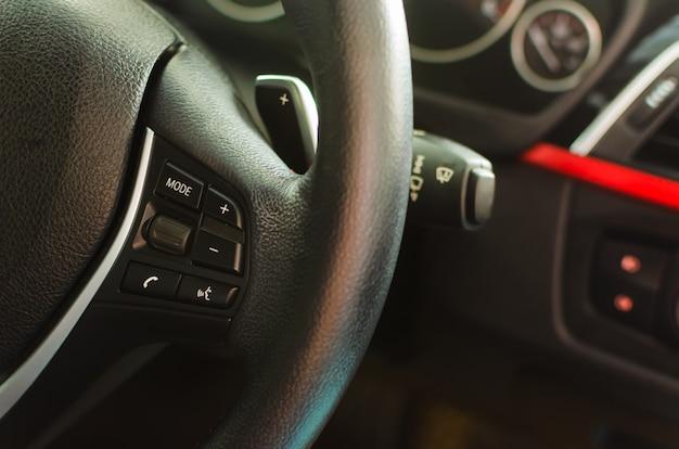 Volume keys on the steering wheel