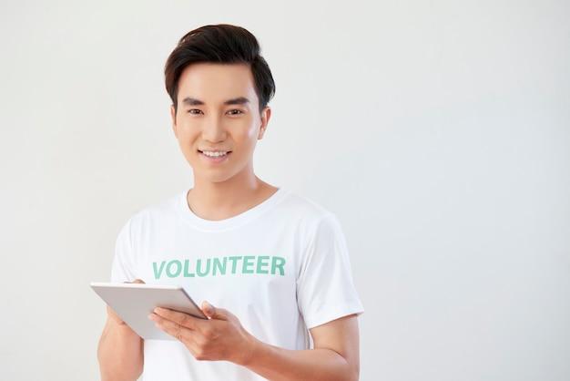 Volunteer working online