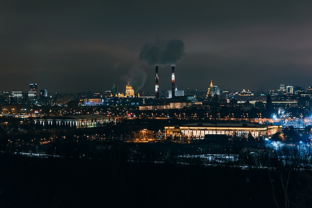 Vorobyovy gory. the view from sparrow hills in moscow