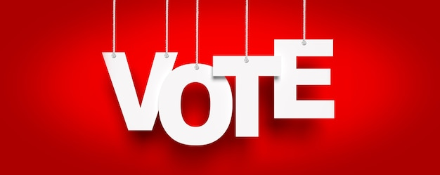Vote on democratic elections, referendum. make right choice.