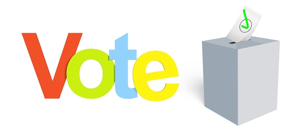 민주적 선거, 국민투표에 투표하십시오. 올바른 선택을 하십시오. 프리미엄 사진