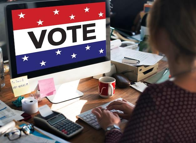 투표 투표 선거 정치 결정 민주주의 개념