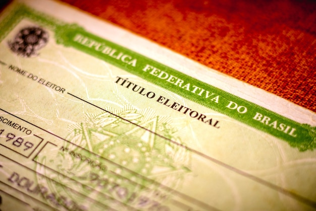 The voter license titulo eleitoral photo election vote card voter id