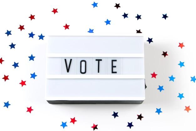 투표 개념.