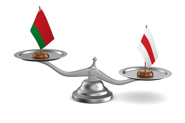 Голосование в белорусской республике на белом фоне. изолированные 3d иллюстрации