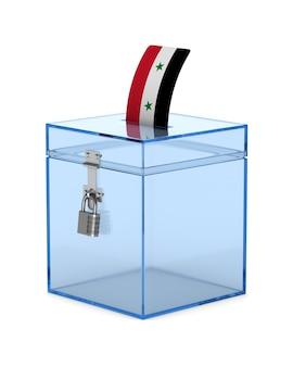 Голосование в сирии на белом фоне. изолированная 3-я иллюстрация