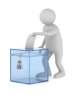 Голосование. изолированный 3d-рендеринг