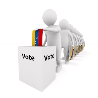 Voting on white surface. isolated 3d illustration.