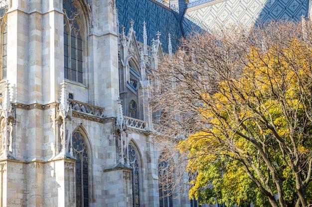 Votivkirche famous gothic church facade in vienna, austria
