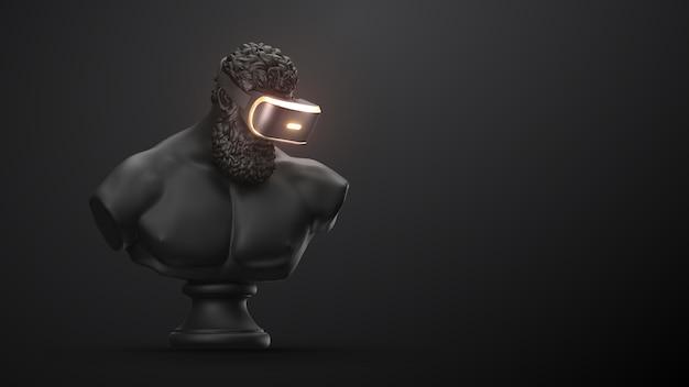 Vr-гарнитура очки виртуальной реальности 3d визуализации