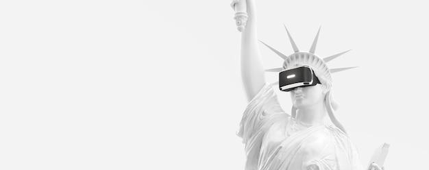 Vr headset virtual reality glasses 3d render