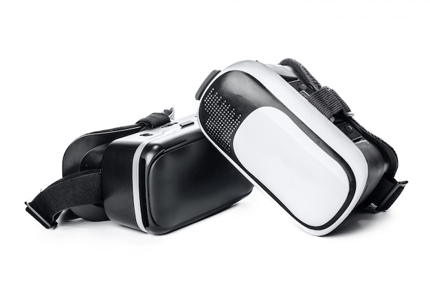 Vr. virtual reality glasses on white
