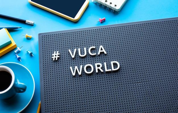 기술 개념 개발 또는 파괴적인 vuca 세계 트렌드