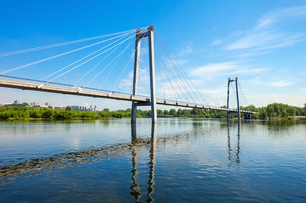 Vynogradovskiy bridge in krasnoyarsk