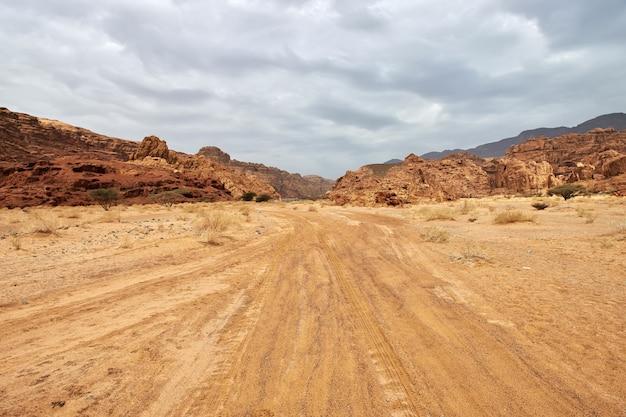 Wadi disah alshaqキャニオンサウジアラビア