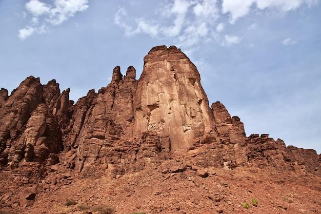 サウジアラビアのアルシャク峡谷のワディディサ