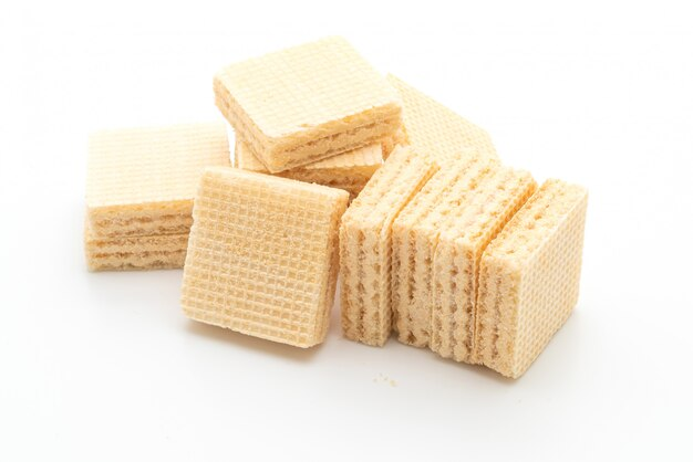 Wafer biscuit with milk cream flavour
