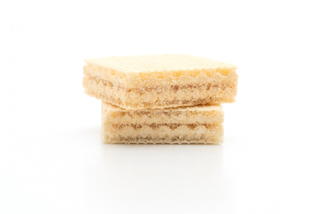 Wafer biscuit with milk cream flavour