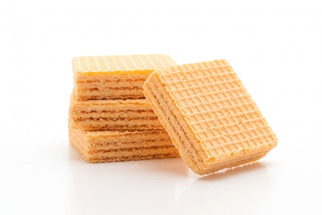 Wafer biscuit with orange cream