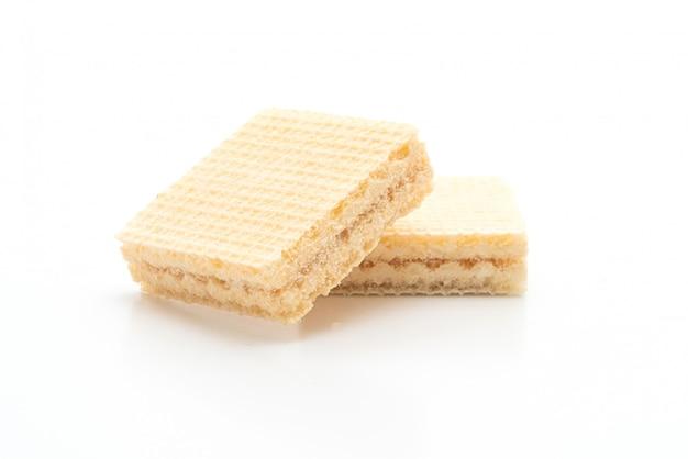 Вафельное печенье с молочным кремом
