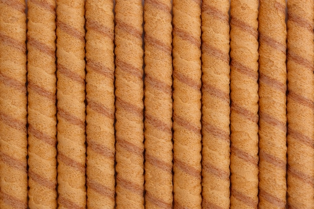 Wafer roll sticks as background, view from above.
