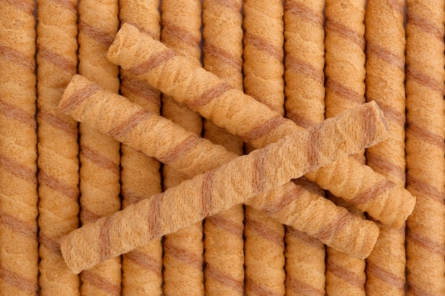 Wafer roll sticks, view from above.