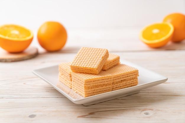 Вафли с апельсиновым кремом