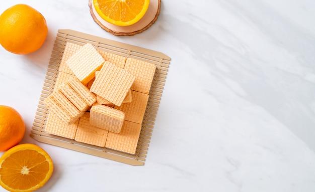 Вафельные с апельсиновым кремом