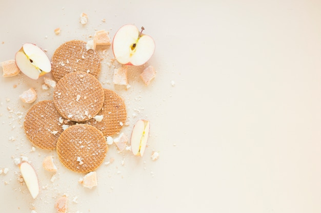 Waffles and apples