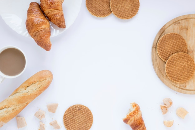 Waffles and croissants
