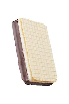 スフレとチョコレートコーティングのワッフル。