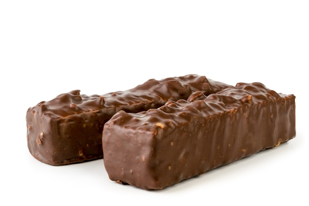 チョコレートをまぶしたナッツのワッフル