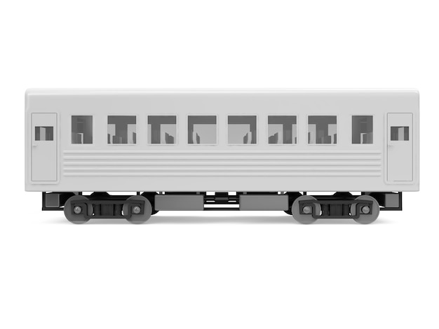 Вагонный поезд, изолированные на белом фоне
