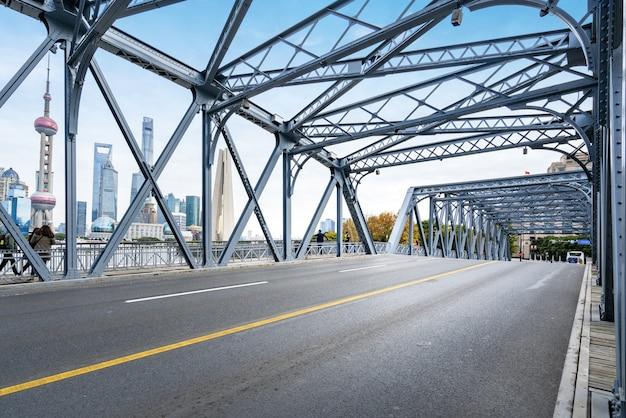The waibaidu bridge in shanghai, china