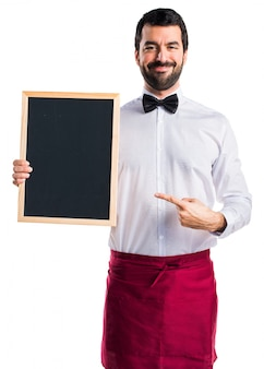 Waiter adult happy tie board